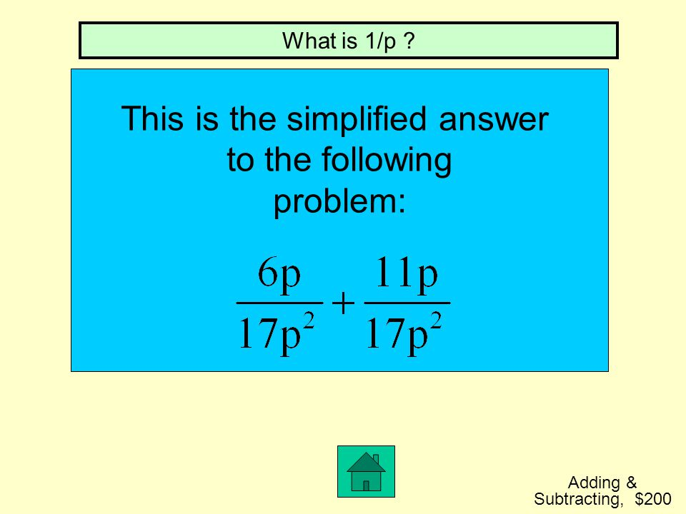 This is the simplified answer