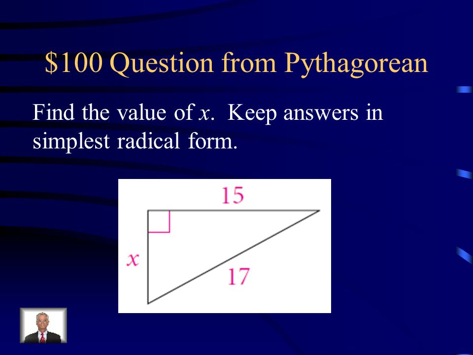 $100 Question from Pythagorean