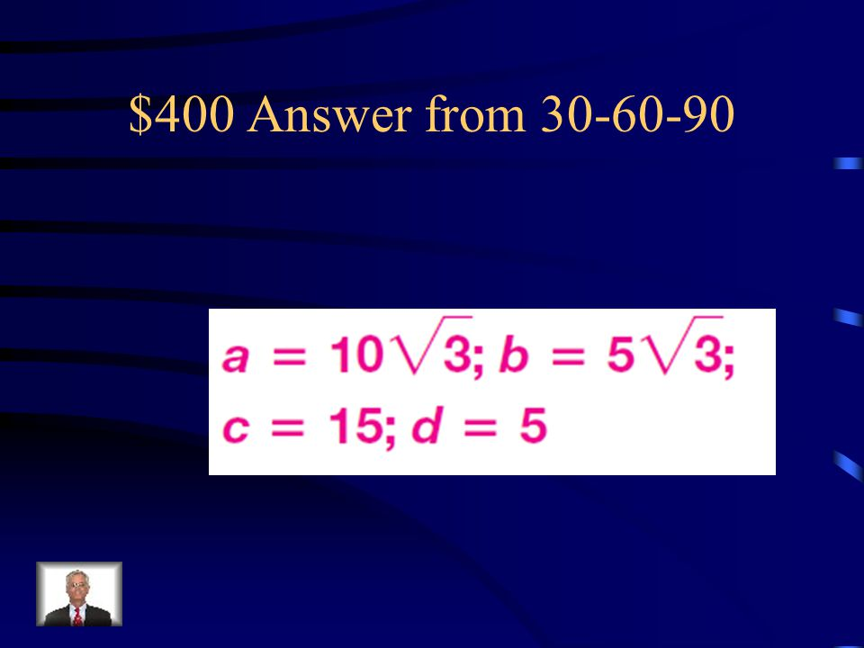 $400 Answer from 30-60-90