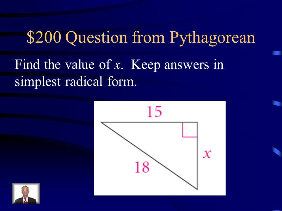 $200 Question from Pythagorean