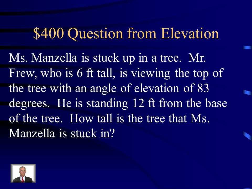$400 Question from Elevation