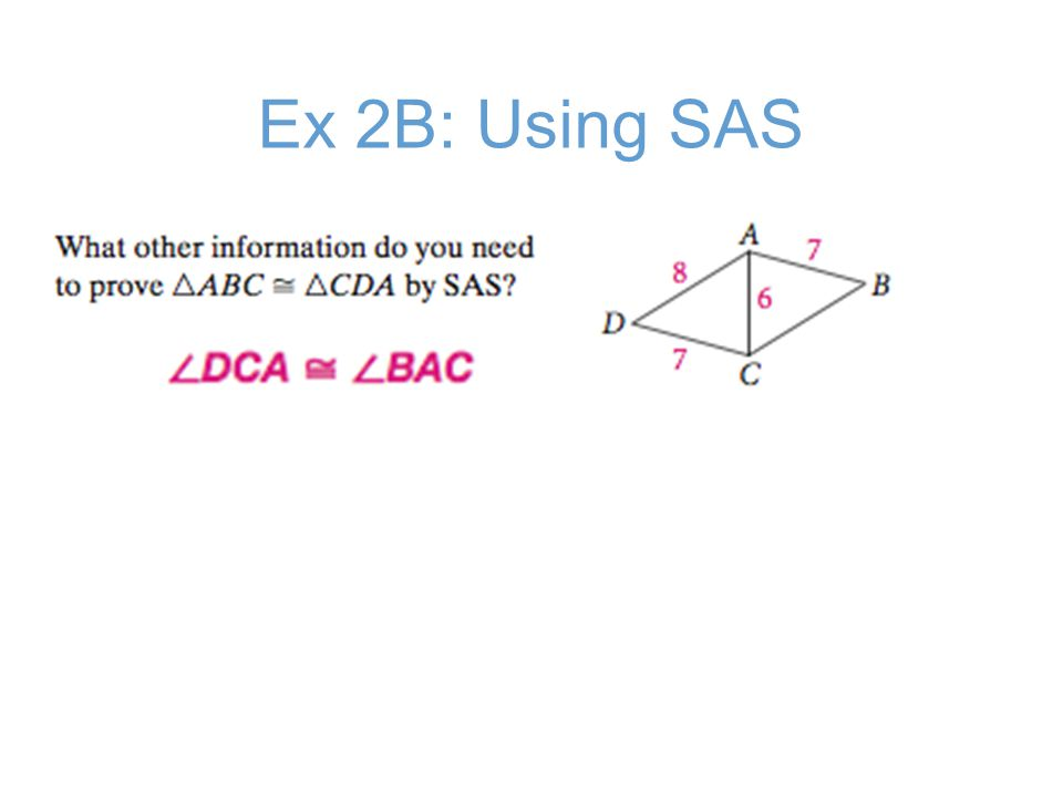 Ex 2B: Using SAS