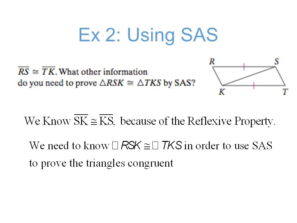 Ex 2: Using SAS