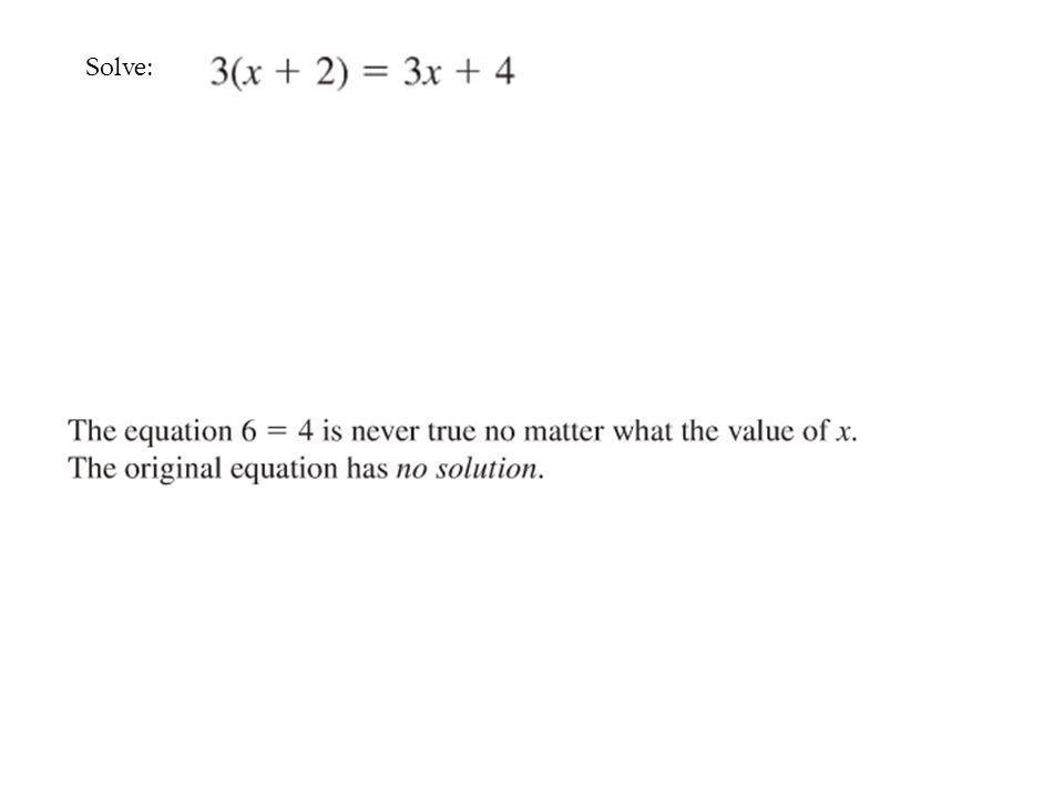 Solve: