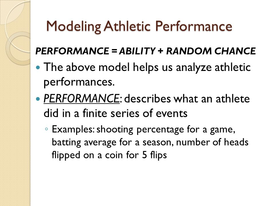 Modeling Athletic Performance