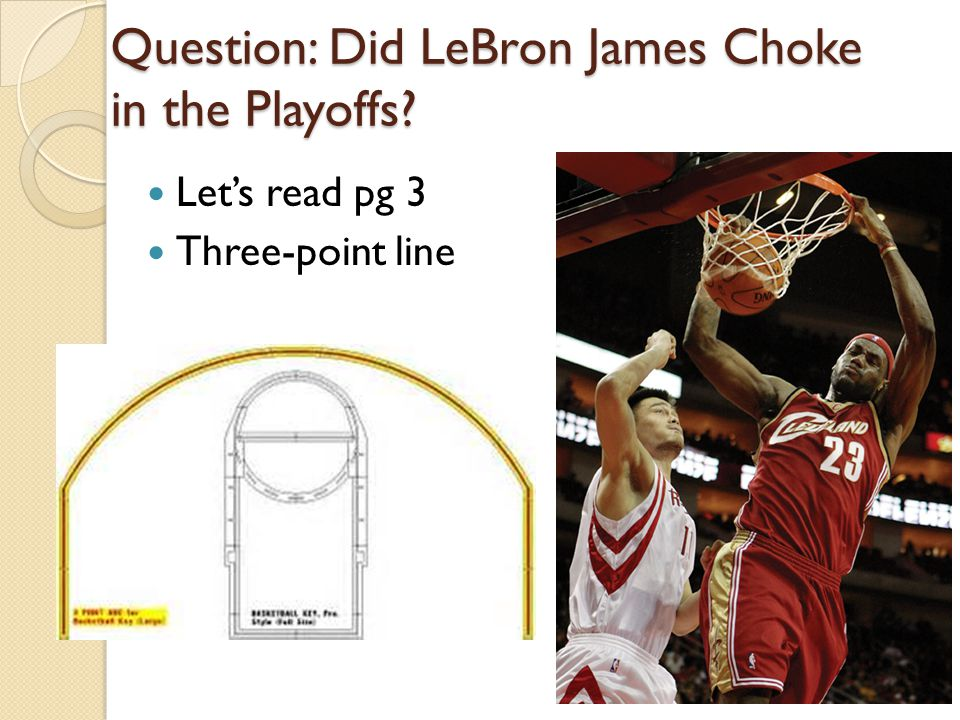 Question: Did LeBron James Choke in the Playoffs
