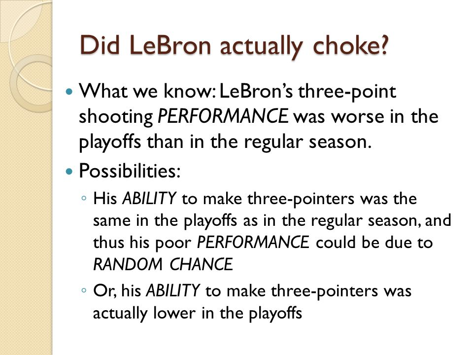 Did LeBron actually choke