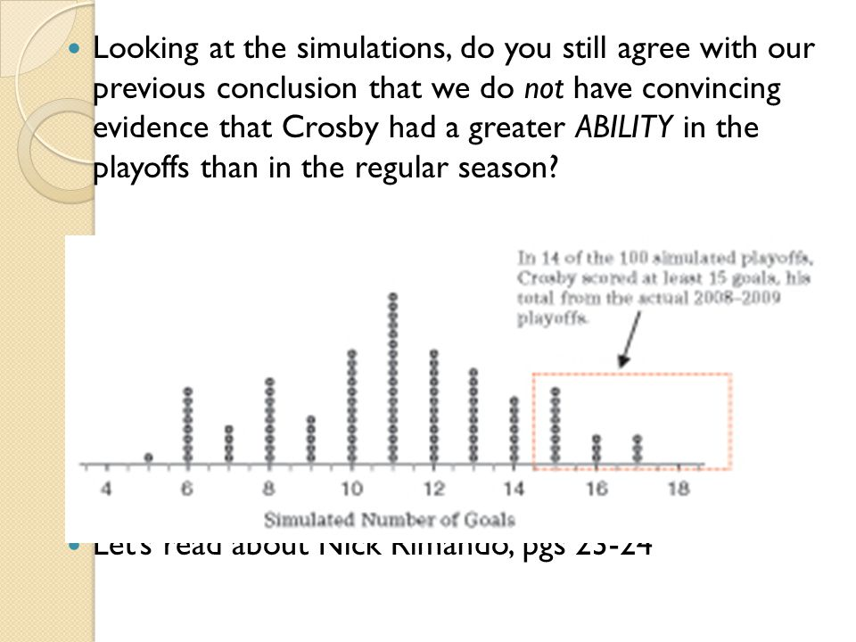 Looking at the simulations, do you still agree with our previous conclusion that we do not have convincing evidence that Crosby had a greater ABILITY in the playoffs than in the regular season
