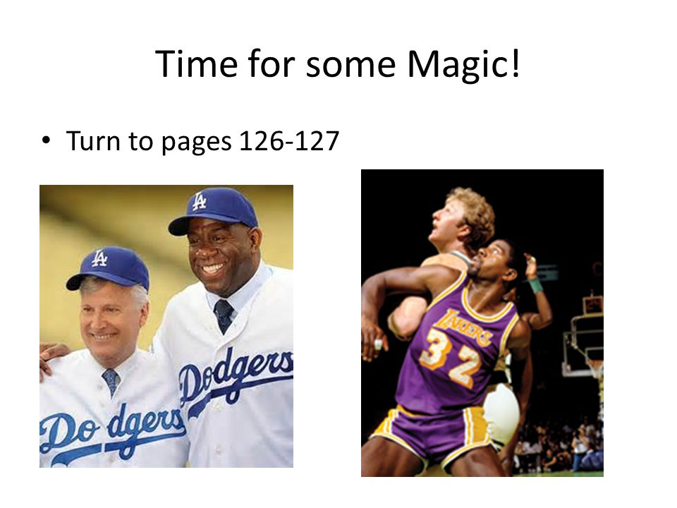 Time for some Magic! Turn to pages 126-127