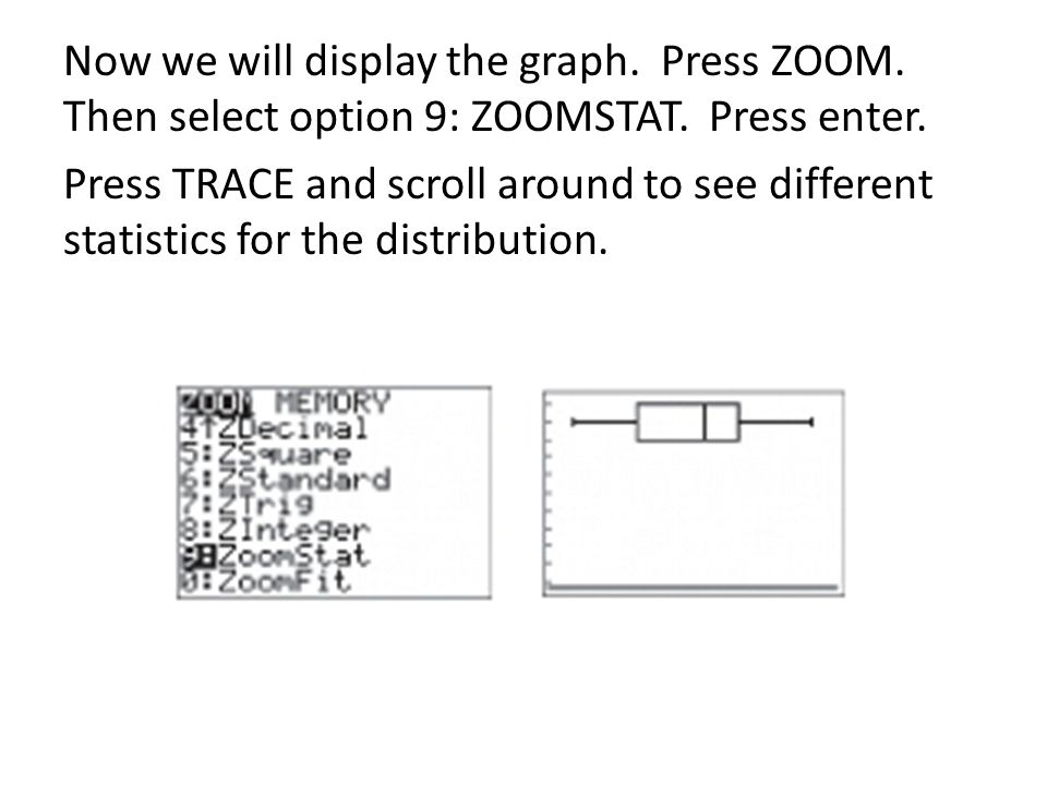 Now we will display the graph. Press ZOOM