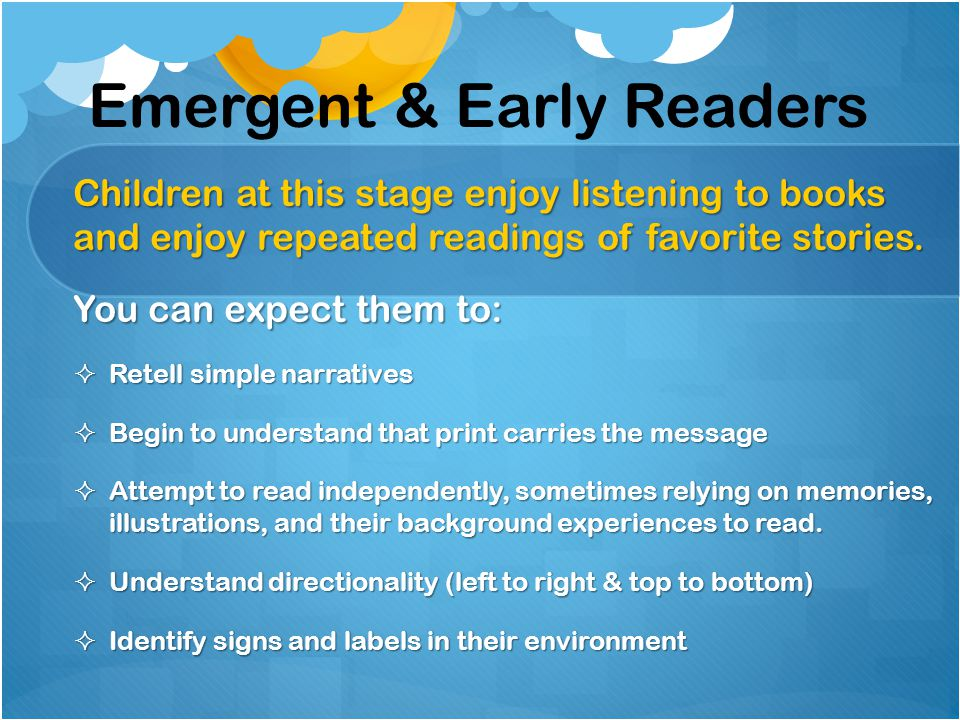 Emergent & Early Readers