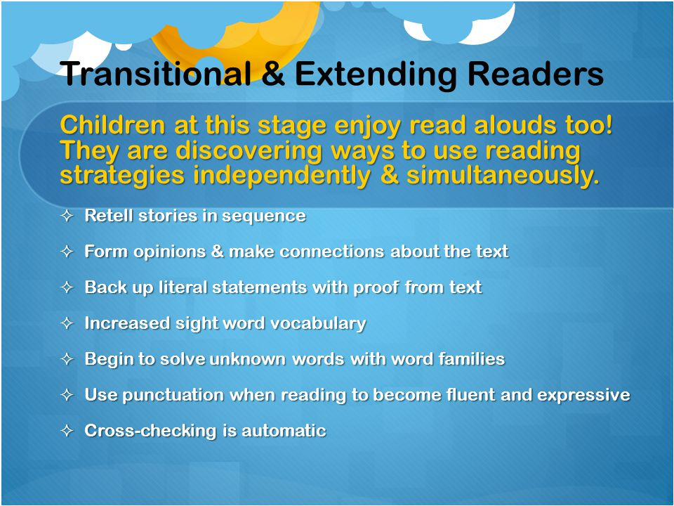 Transitional & Extending Readers