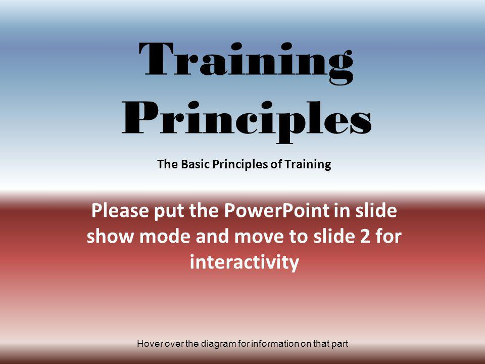 The Basic Principles of Training