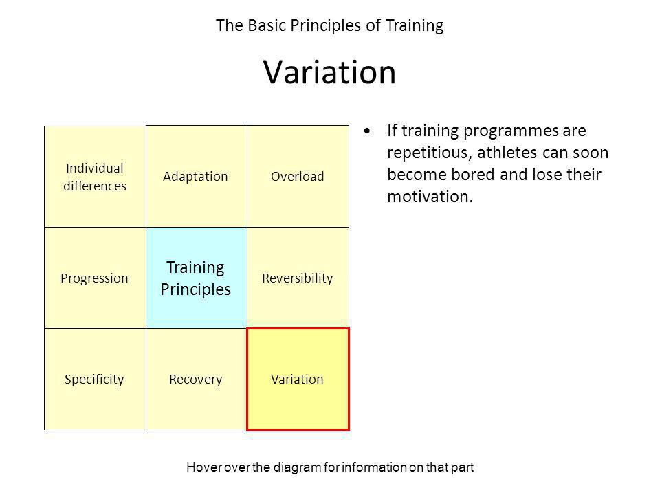 Variation The Basic Principles of Training