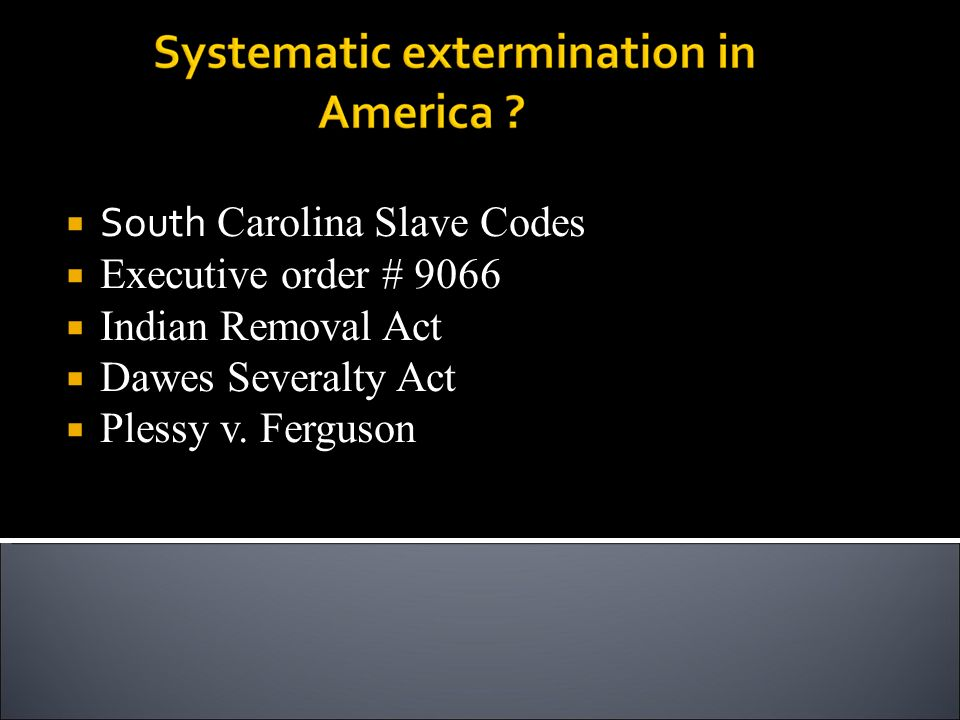 South Carolina Slave Codes