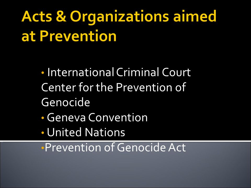 International Criminal Court Center for the Prevention of Genocide