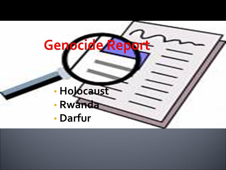 Holocaust Rwanda Darfur