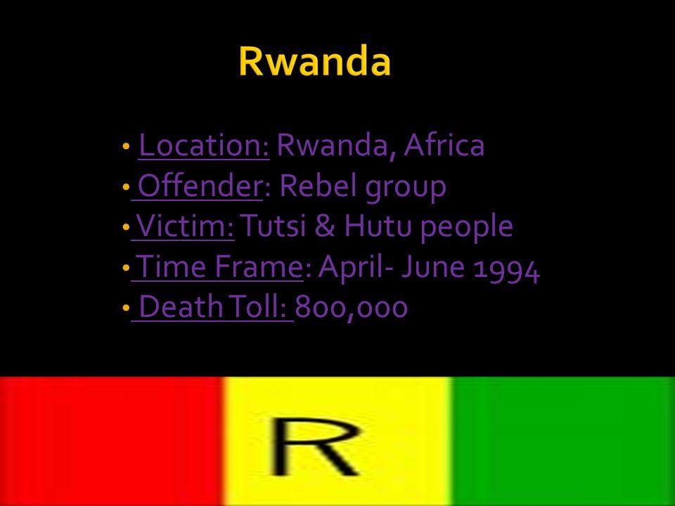 Location: Rwanda, Africa