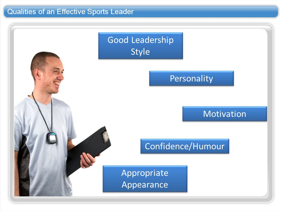 qualities of sports leaders What makes a good leader in sport a: the espy for best male action sports athlete is a fan-chosen award given to an athlete who good leaders qualities of a.