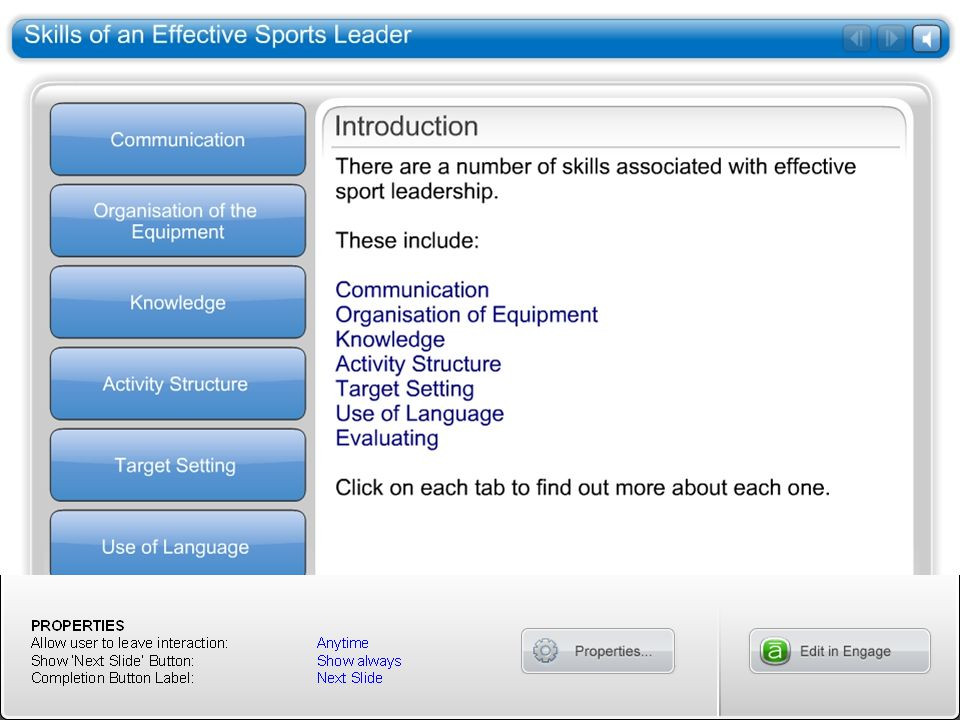 Skills of an Effective Sports Leader