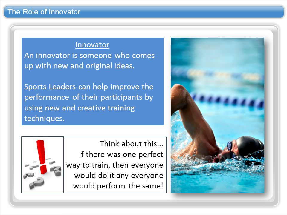 An innovator is someone who comes up with new and original ideas.