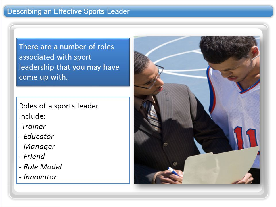 Describing an Effective Sports Leader