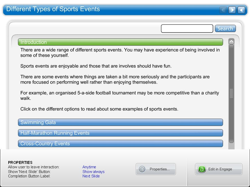 Different Types of Sports Events
