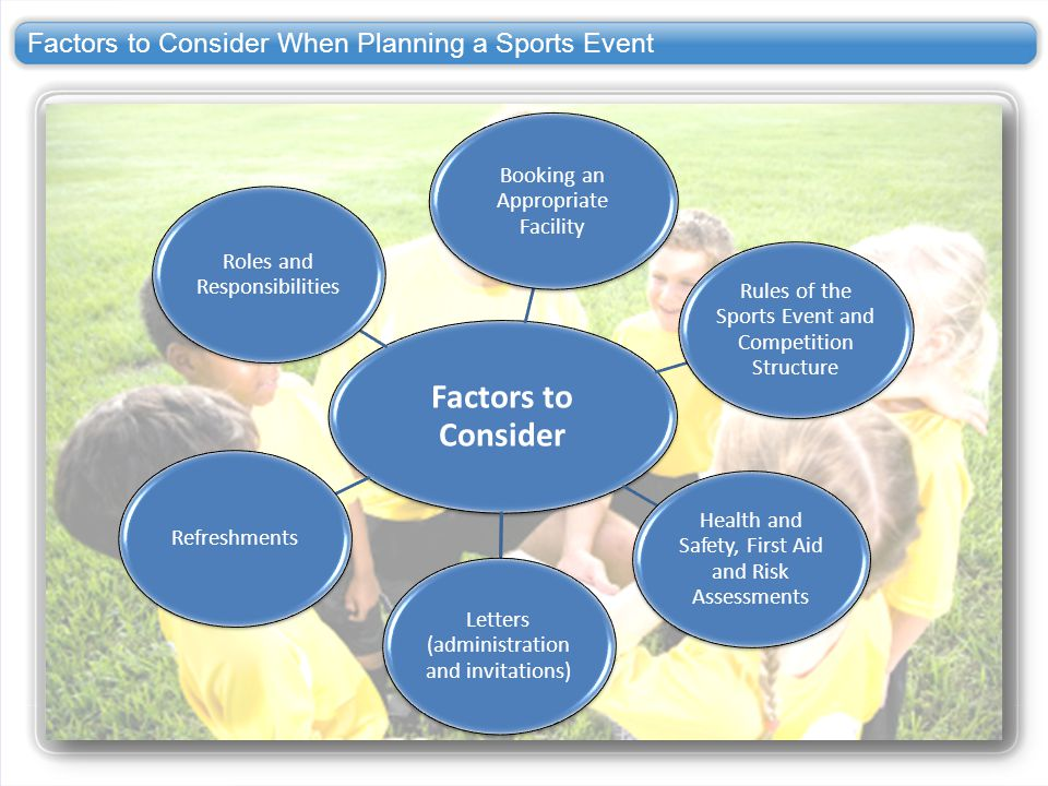 Factors to Consider When Planning a Sports Event