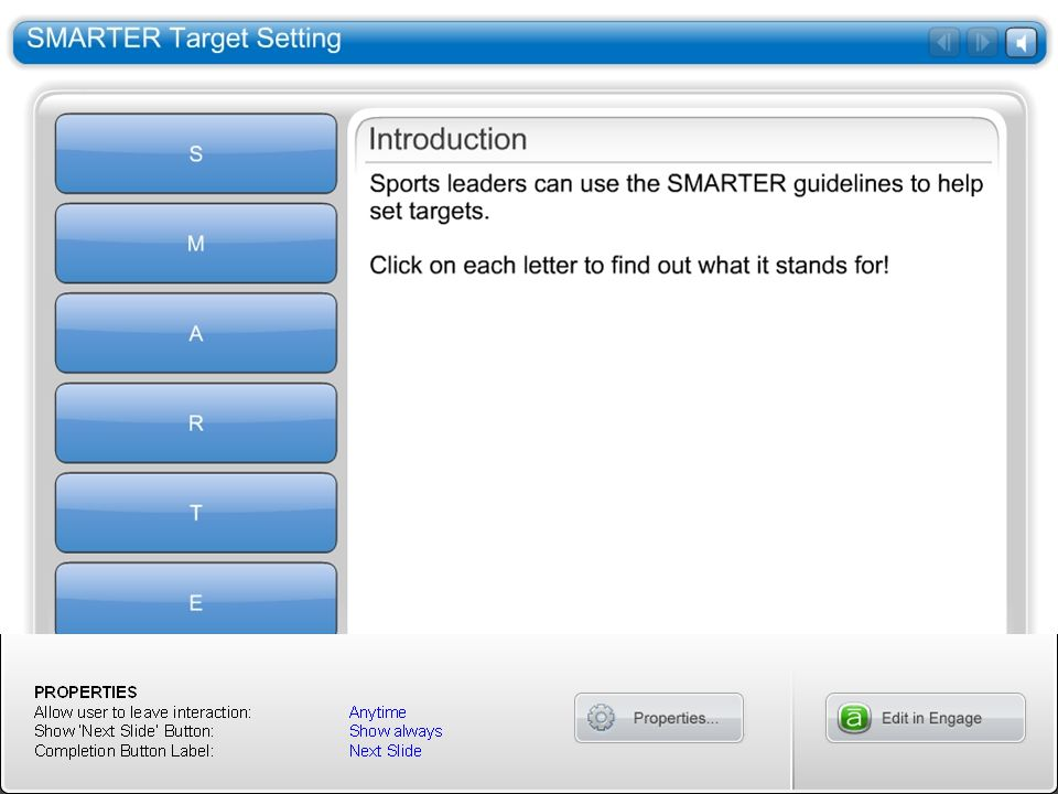 SMARTER Target Setting