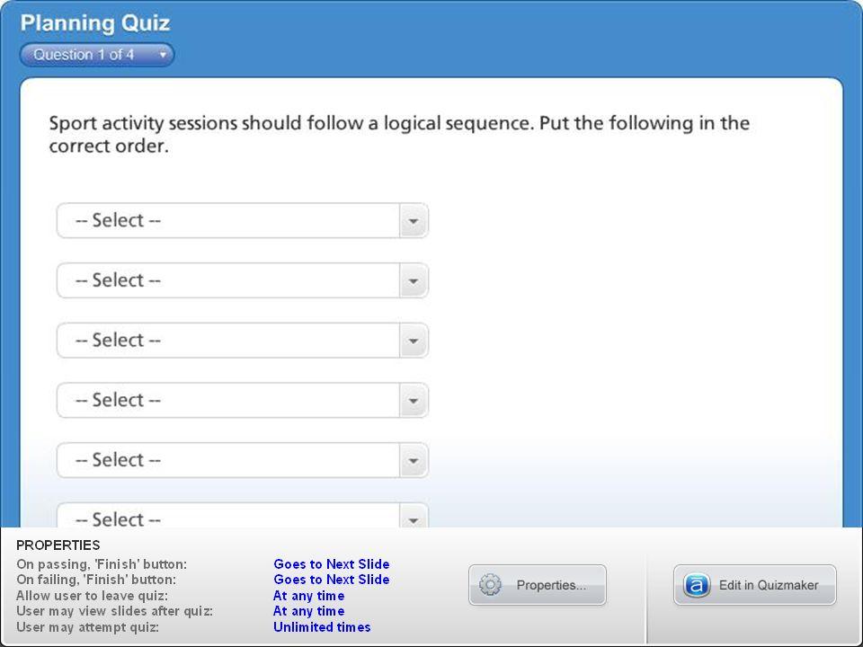 Planning Quiz