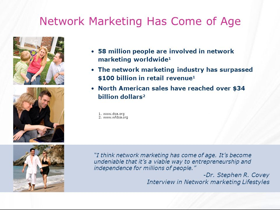 Network Marketing Has Come of Age