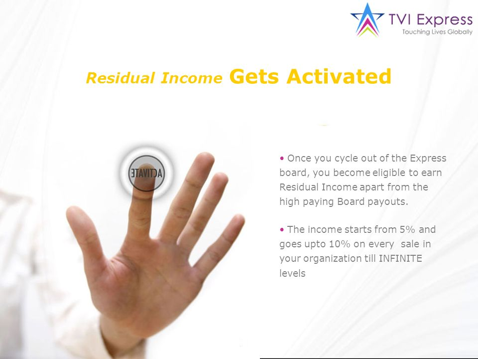 Residual Income Gets Activated