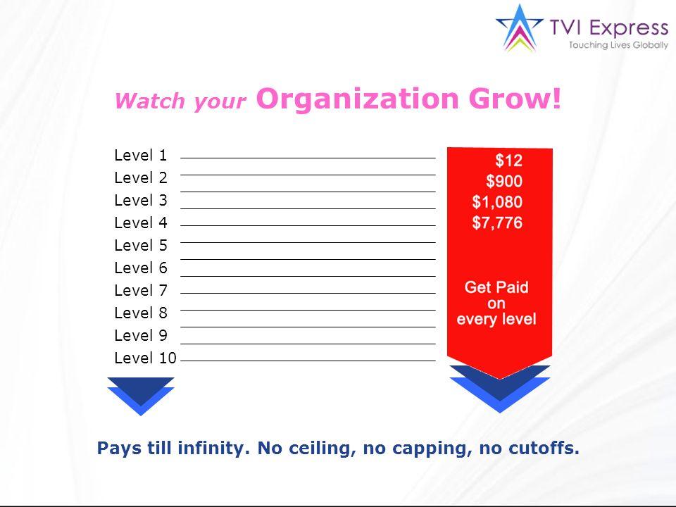 Watch your Organization Grow!