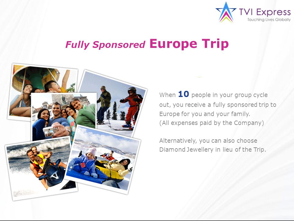 Fully Sponsored Europe Trip