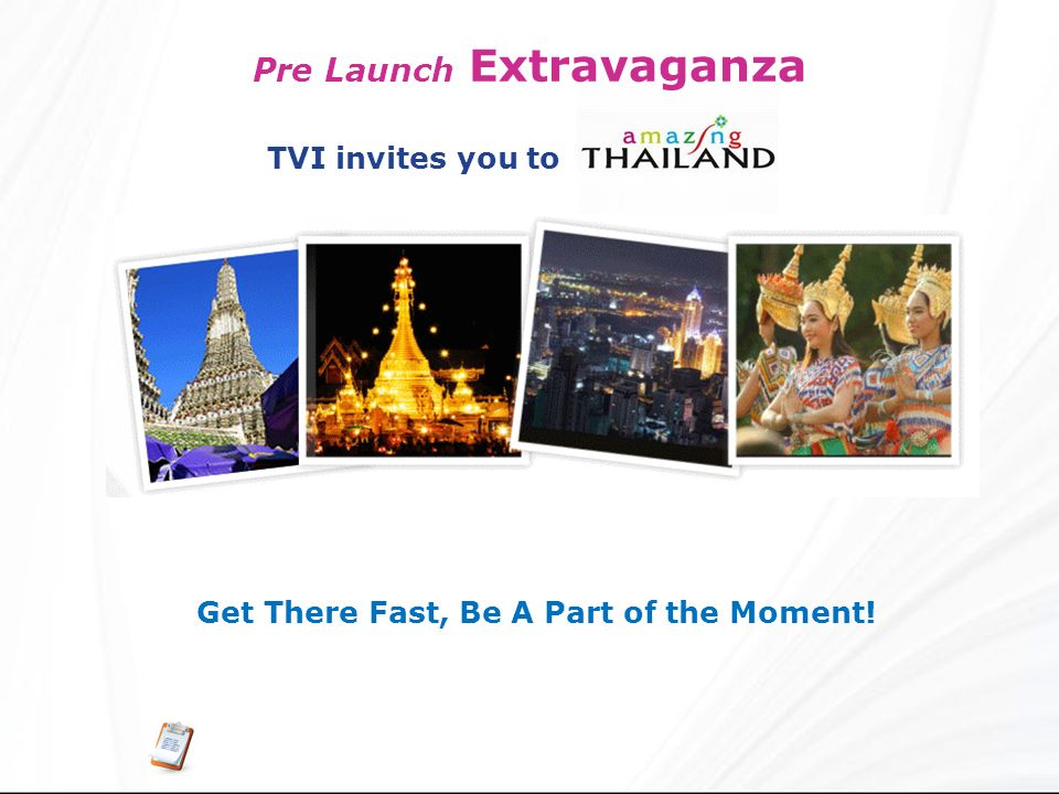 Pre Launch Extravaganza Get There Fast, Be A Part of the Moment!