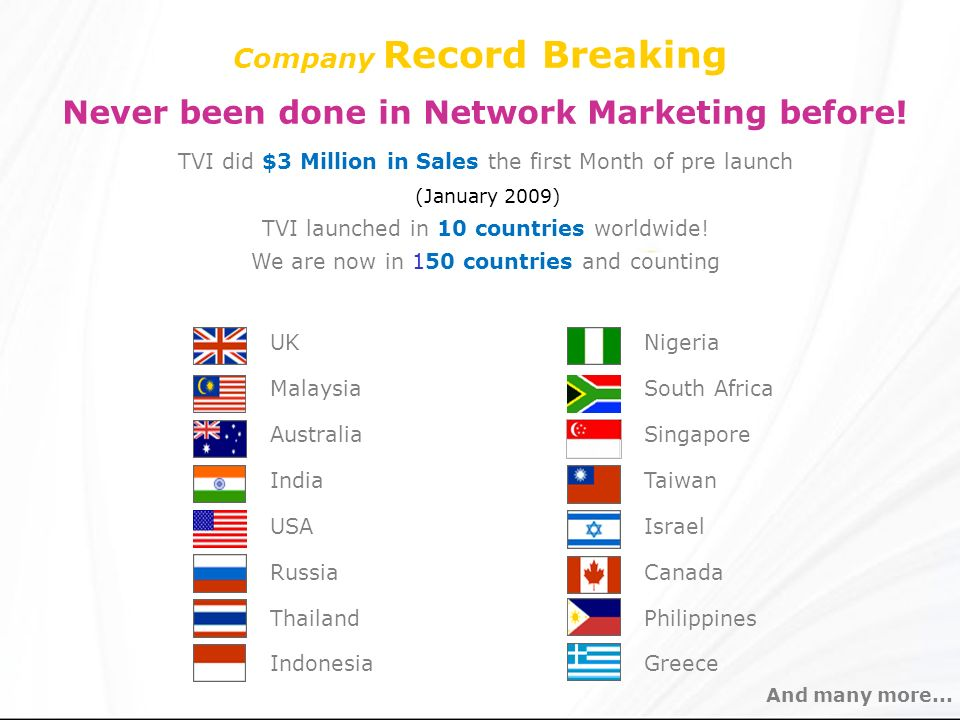 Company Record Breaking Never been done in Network Marketing before!