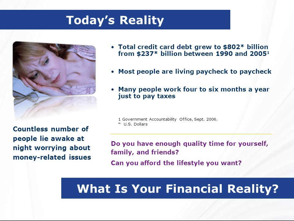 What Is Your Financial Reality
