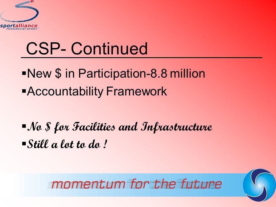 CSP- Continued New $ in Participation-8.8 million