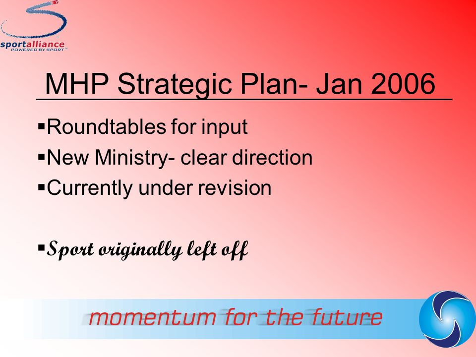 MHP Strategic Plan- Jan 2006