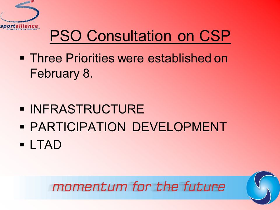 PSO Consultation on CSP
