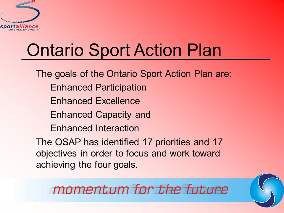Ontario Sport Action Plan