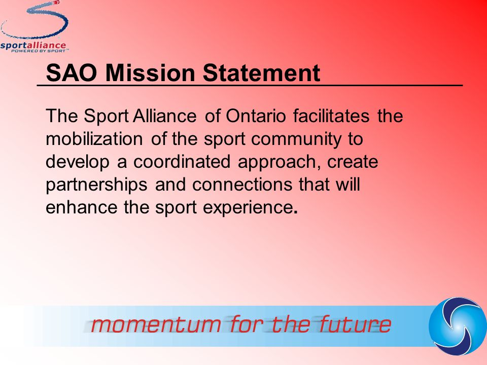 SAO Mission Statement