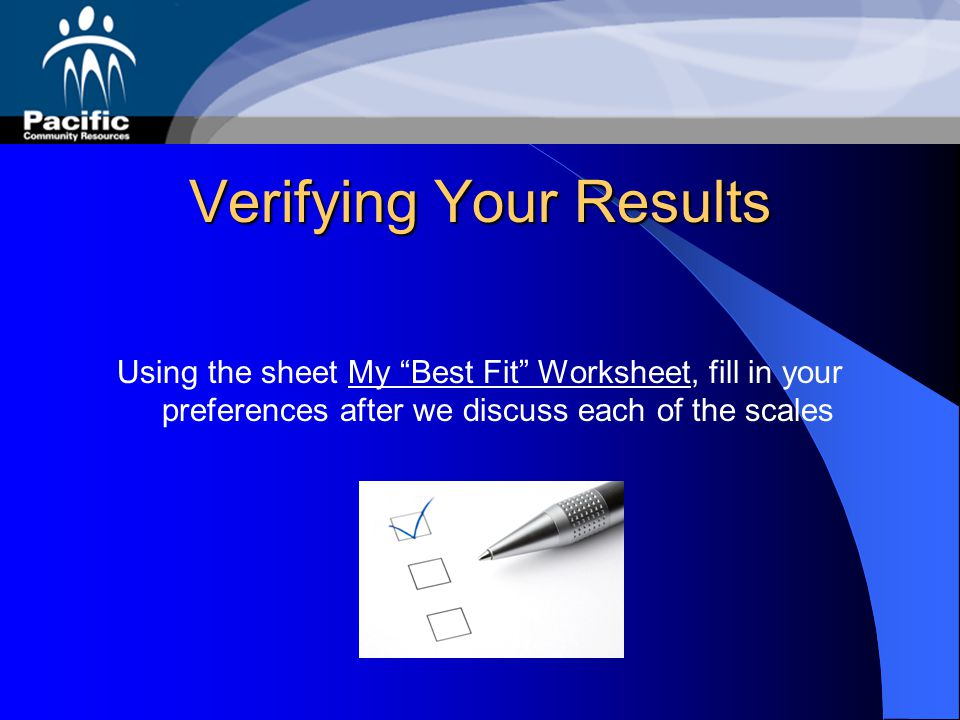 Verifying Your Results
