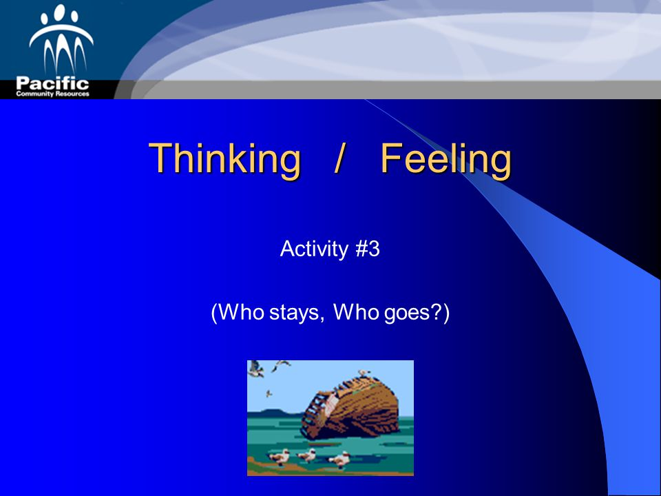 Thinking / Feeling Activity #3 (Who stays, Who goes )