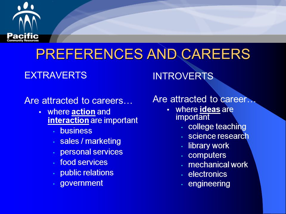 PREFERENCES AND CAREERS