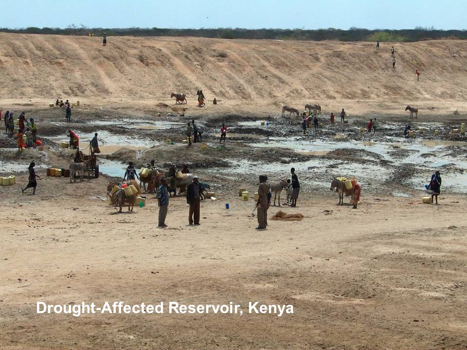 Drought-Affected Reservoir, Kenya