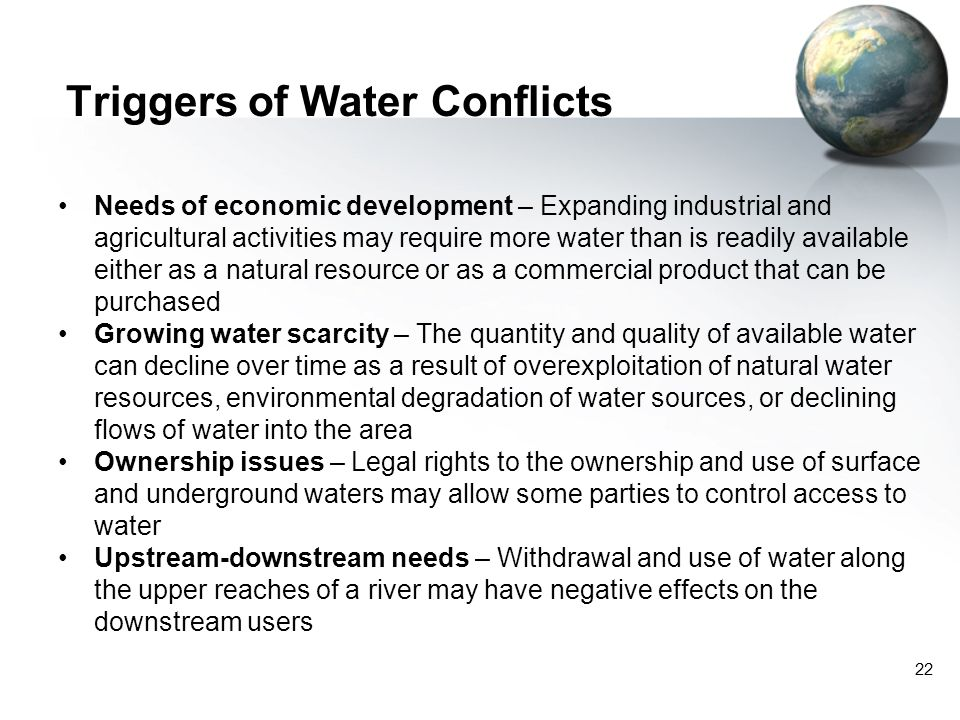 Triggers of Water Conflicts