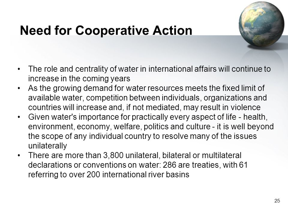 Need for Cooperative Action