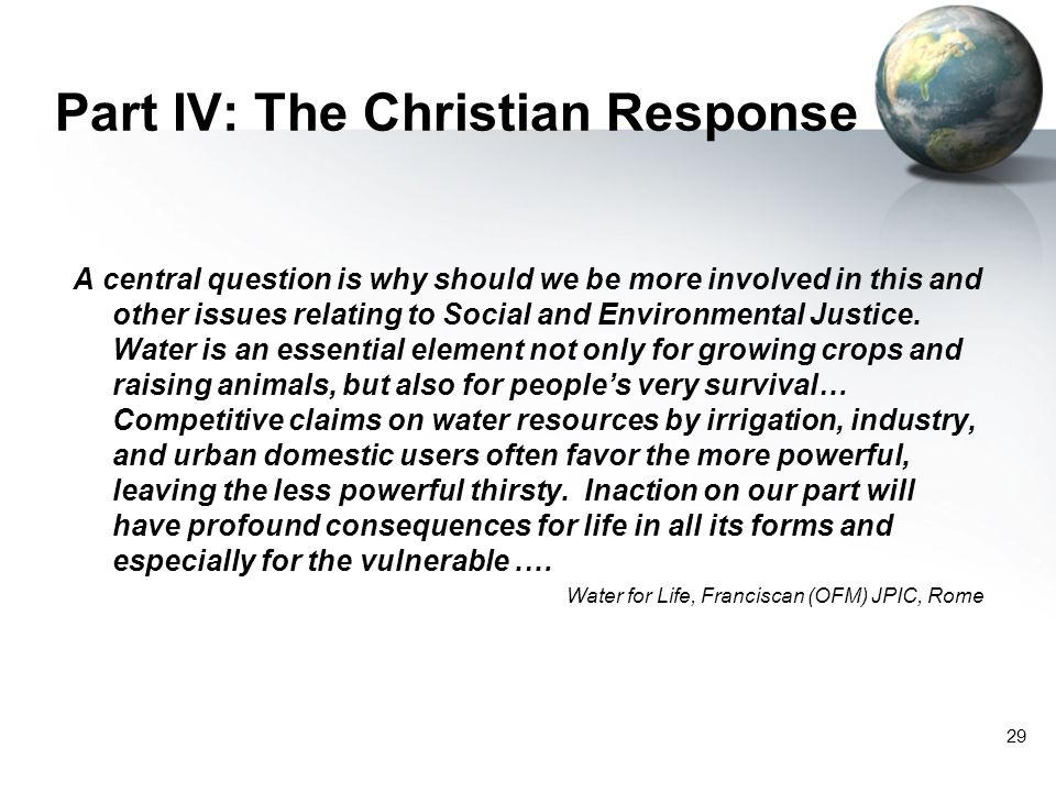 Part IV: The Christian Response