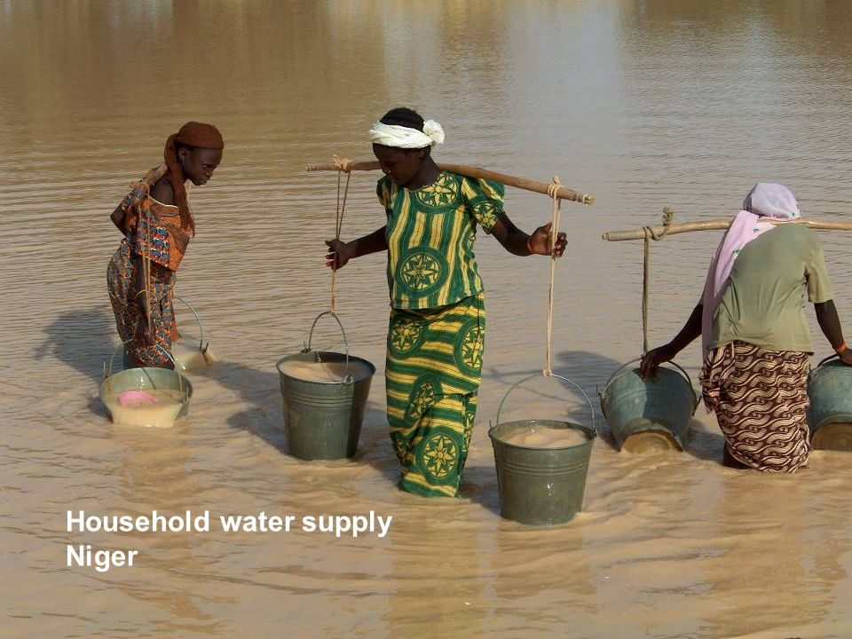 Household water supply, Niger